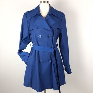 DKNY | Bright Blue Trench Coat With Belt